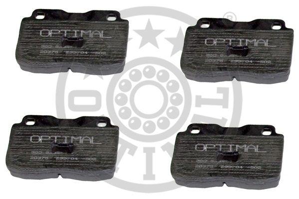 Kit de plaquettes de frein, frein à disque - OPTIMAL - 9234