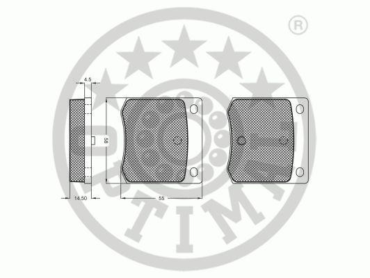 Kit de plaquettes de frein, frein à disque - OPTIMAL - 9236