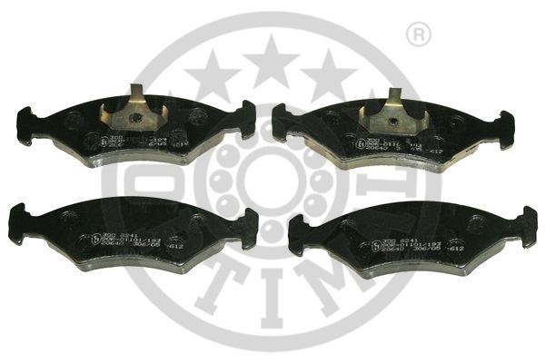 Kit de plaquettes de frein, frein à disque - OPTIMAL - 9241