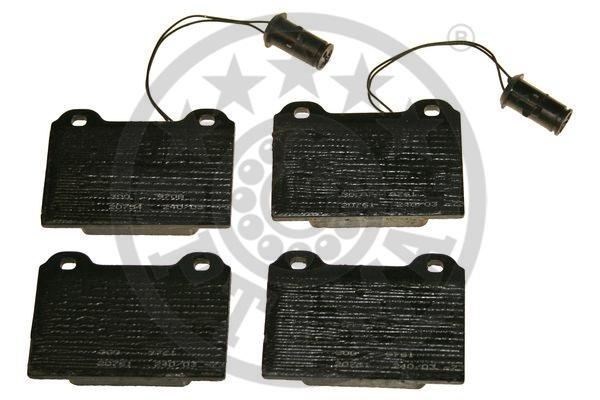 Kit de plaquettes de frein, frein à disque - OPTIMAL - 9248