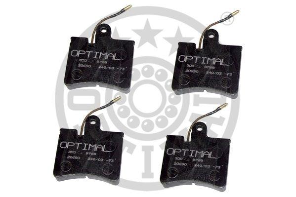 Kit de plaquettes de frein, frein à disque - OPTIMAL - 9253