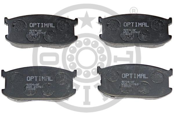 Kit de plaquettes de frein, frein à disque - OPTIMAL - 9254