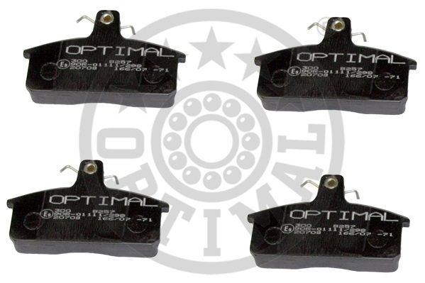 Kit de plaquettes de frein, frein à disque - OPTIMAL - 9257