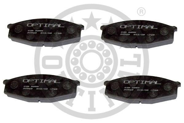 Kit de plaquettes de frein, frein à disque - OPTIMAL - 9259