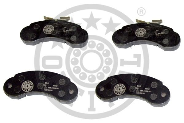 Kit de plaquettes de frein, frein à disque - OPTIMAL - 9291