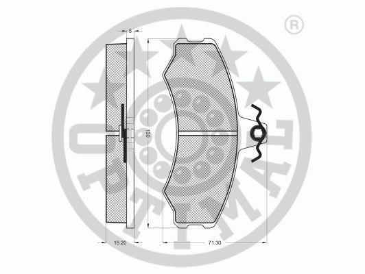 Kit de plaquettes de frein, frein à disque - OPTIMAL - 9292