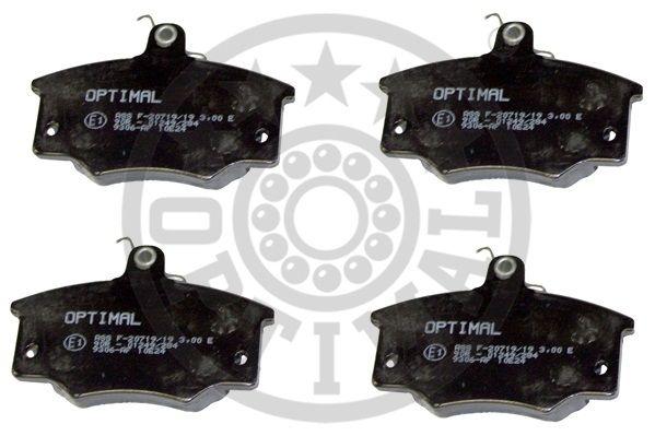 Kit de plaquettes de frein, frein à disque - OPTIMAL - 9306