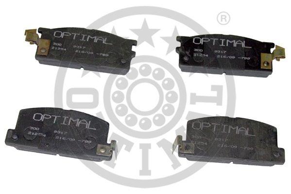 Kit de plaquettes de frein, frein à disque - OPTIMAL - 9317
