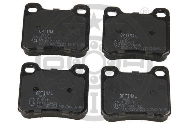 Kit de plaquettes de frein, frein à disque - OPTIMAL - 9322