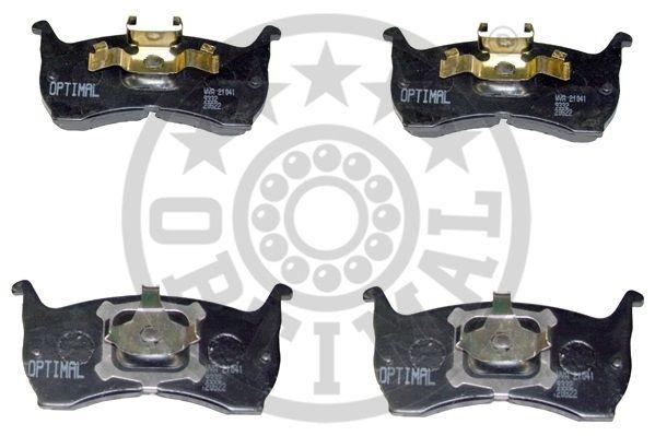 Kit de plaquettes de frein, frein à disque - OPTIMAL - 9332