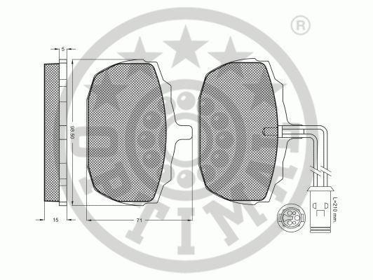 Kit de plaquettes de frein, frein à disque - OPTIMAL - 9335