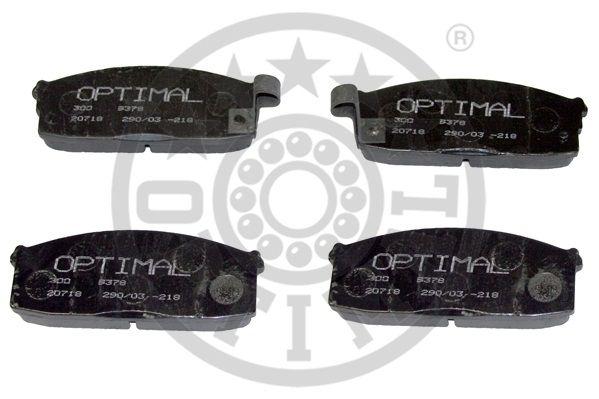 Kit de plaquettes de frein, frein à disque - OPTIMAL - 9378