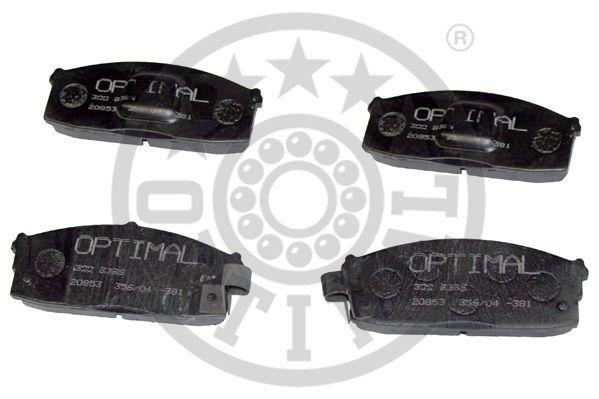 Kit de plaquettes de frein, frein à disque - OPTIMAL - 9396