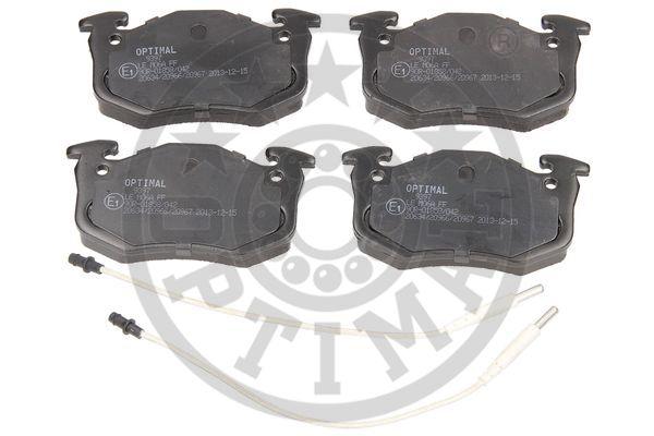 Kit de plaquettes de frein, frein à disque - OPTIMAL - 9397