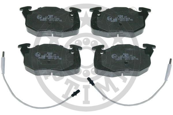 Kit de plaquettes de frein, frein à disque - OPTIMAL - 9398