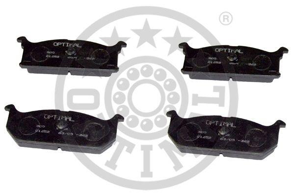 Kit de plaquettes de frein, frein à disque - OPTIMAL - 9402