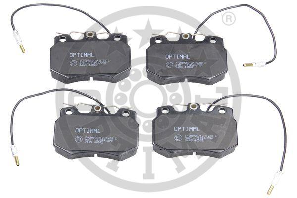 Kit de plaquettes de frein, frein à disque - OPTIMAL - 9405