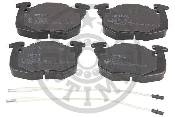Kit de plaquettes de frein, frein à disque - OPTIMAL - 9415