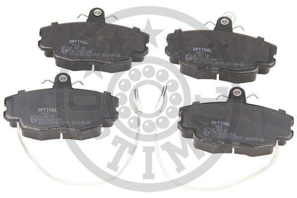 Kit de plaquettes de frein, frein à disque - OPTIMAL - 9416