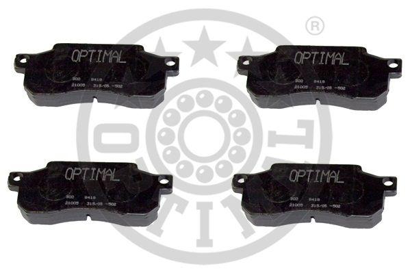 Kit de plaquettes de frein, frein à disque - OPTIMAL - 9418