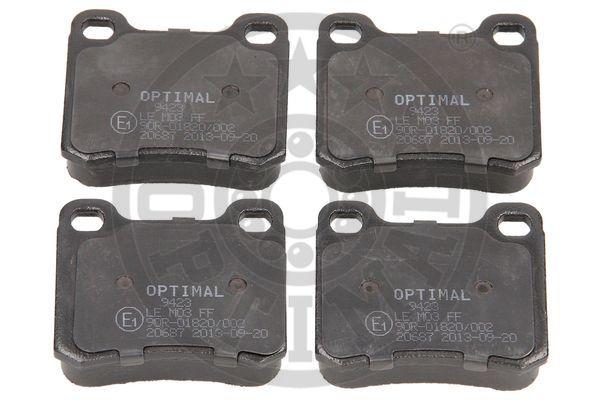 Kit de plaquettes de frein, frein à disque - OPTIMAL - 9423