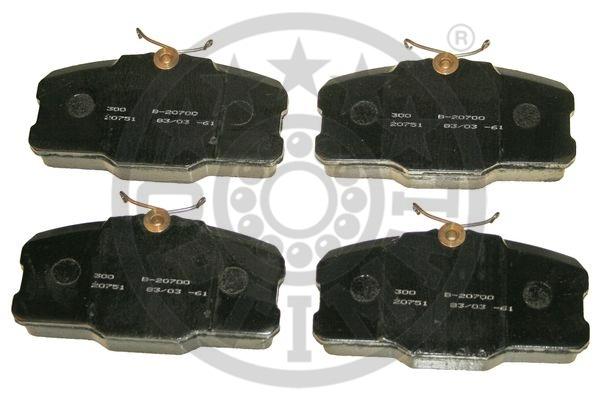 Kit de plaquettes de frein, frein à disque - OPTIMAL - 9429