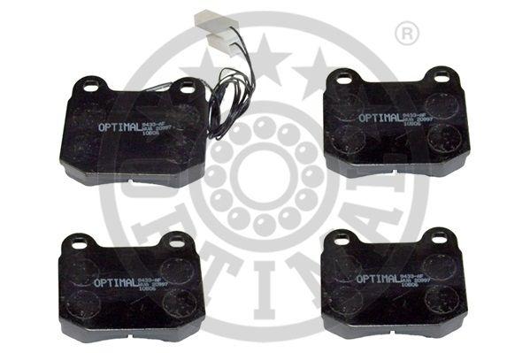 Kit de plaquettes de frein, frein à disque - OPTIMAL - 9433