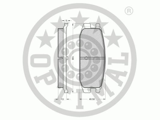 Kit de plaquettes de frein, frein à disque - OPTIMAL - 9442