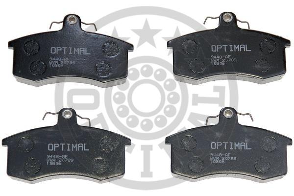 Kit de plaquettes de frein, frein à disque - OPTIMAL - 9448