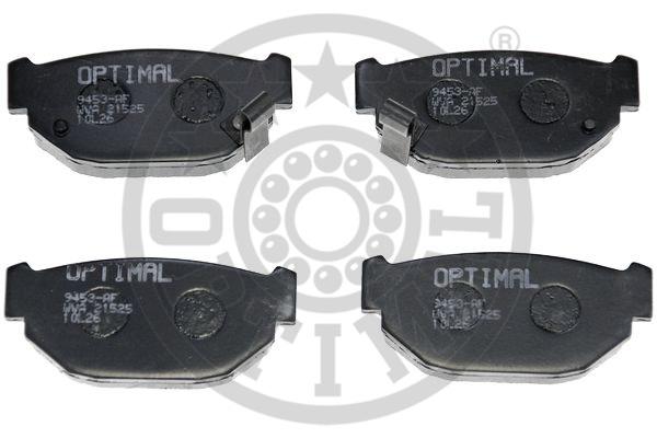 Kit de plaquettes de frein, frein à disque - OPTIMAL - 9453