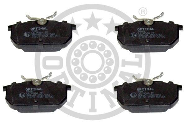 Kit de plaquettes de frein, frein à disque - OPTIMAL - 9460