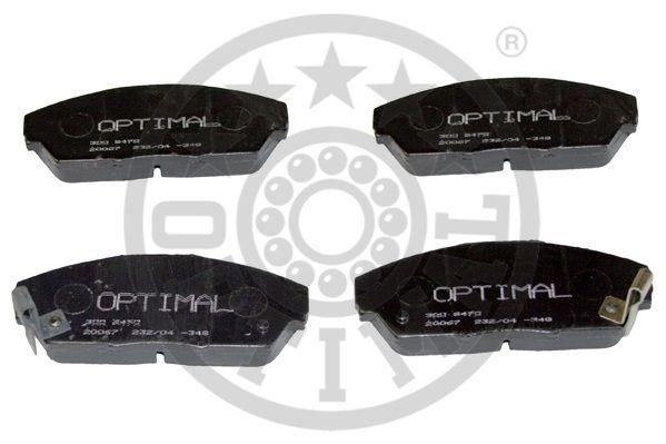 Kit de plaquettes de frein, frein à disque - OPTIMAL - 9470