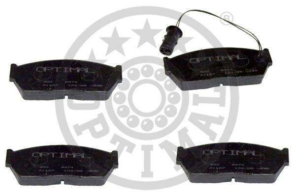 Kit de plaquettes de frein, frein à disque - OPTIMAL - 9474