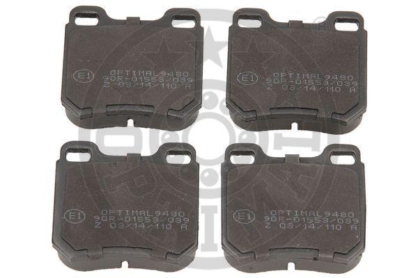 Kit de plaquettes de frein, frein à disque - OPTIMAL - 9480