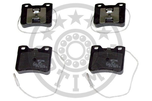 Kit de plaquettes de frein, frein à disque - OPTIMAL - 9490