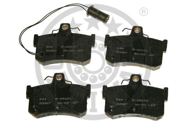 Kit de plaquettes de frein, frein à disque - OPTIMAL - 9498