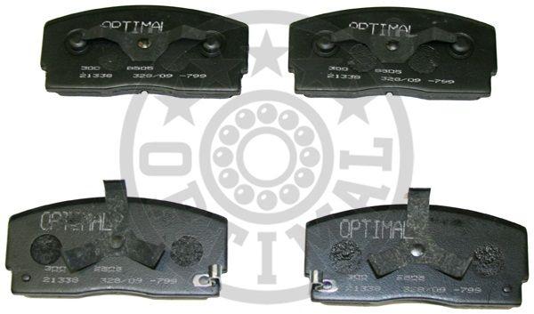 Kit de plaquettes de frein, frein à disque - OPTIMAL - 9505