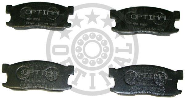 Kit de plaquettes de frein, frein à disque - OPTIMAL - 9506
