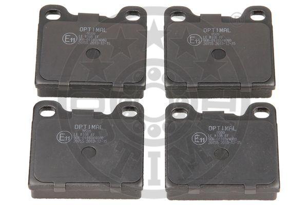 Kit de plaquettes de frein, frein à disque - OPTIMAL - 9509