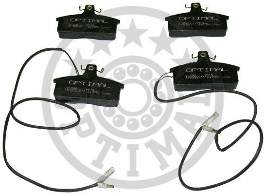 Kit de plaquettes de frein, frein à disque - OPTIMAL - 9510
