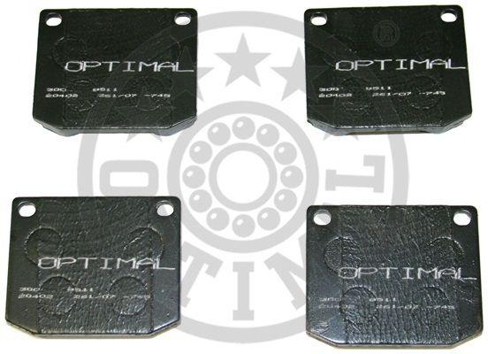 Kit de plaquettes de frein, frein à disque - OPTIMAL - 9511