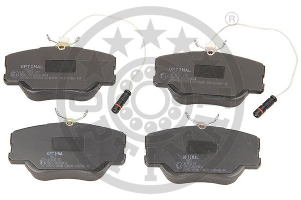 Kit de plaquettes de frein, frein à disque - OPTIMAL - 9513