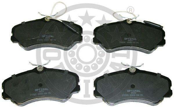 Kit de plaquettes de frein, frein à disque - OPTIMAL - 9522
