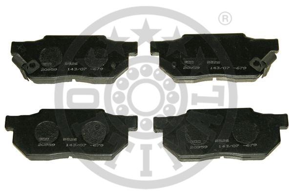 Kit de plaquettes de frein, frein à disque - OPTIMAL - 9526
