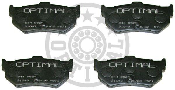 Kit de plaquettes de frein, frein à disque - OPTIMAL - 9529