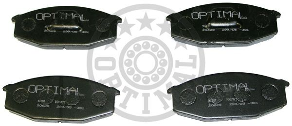 Kit de plaquettes de frein, frein à disque - OPTIMAL - 9530