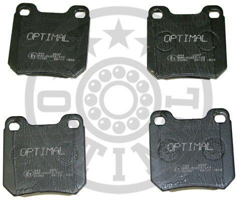 Kit de plaquettes de frein, frein à disque - OPTIMAL - 9537