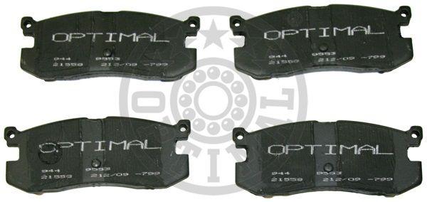 Kit de plaquettes de frein, frein à disque - OPTIMAL - 9553