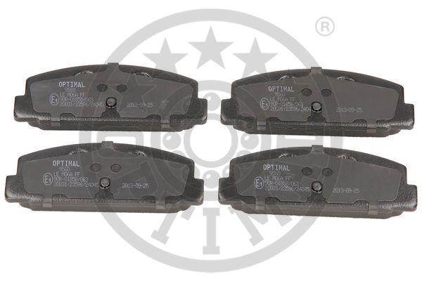 Kit de plaquettes de frein, frein à disque - OPTIMAL - 9560