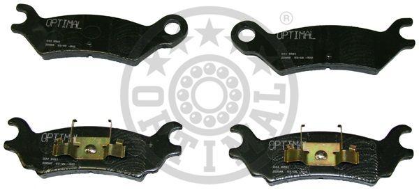 Kit de plaquettes de frein, frein à disque - OPTIMAL - 9561